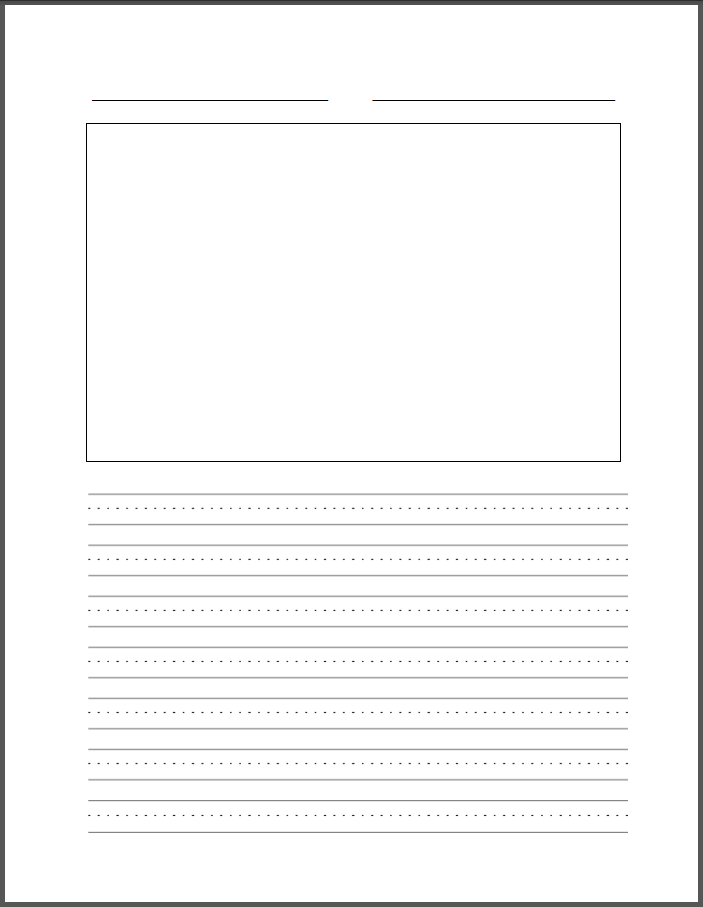 printable lined paper template elementary .