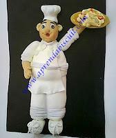 Cozinheiro em porcelana fria