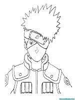 Mewarnai Gambar Kakashi Dari Film Animasi Anak Naruto