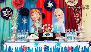 Model Dekorasi Ulang Tahun Anak Tema Frozen