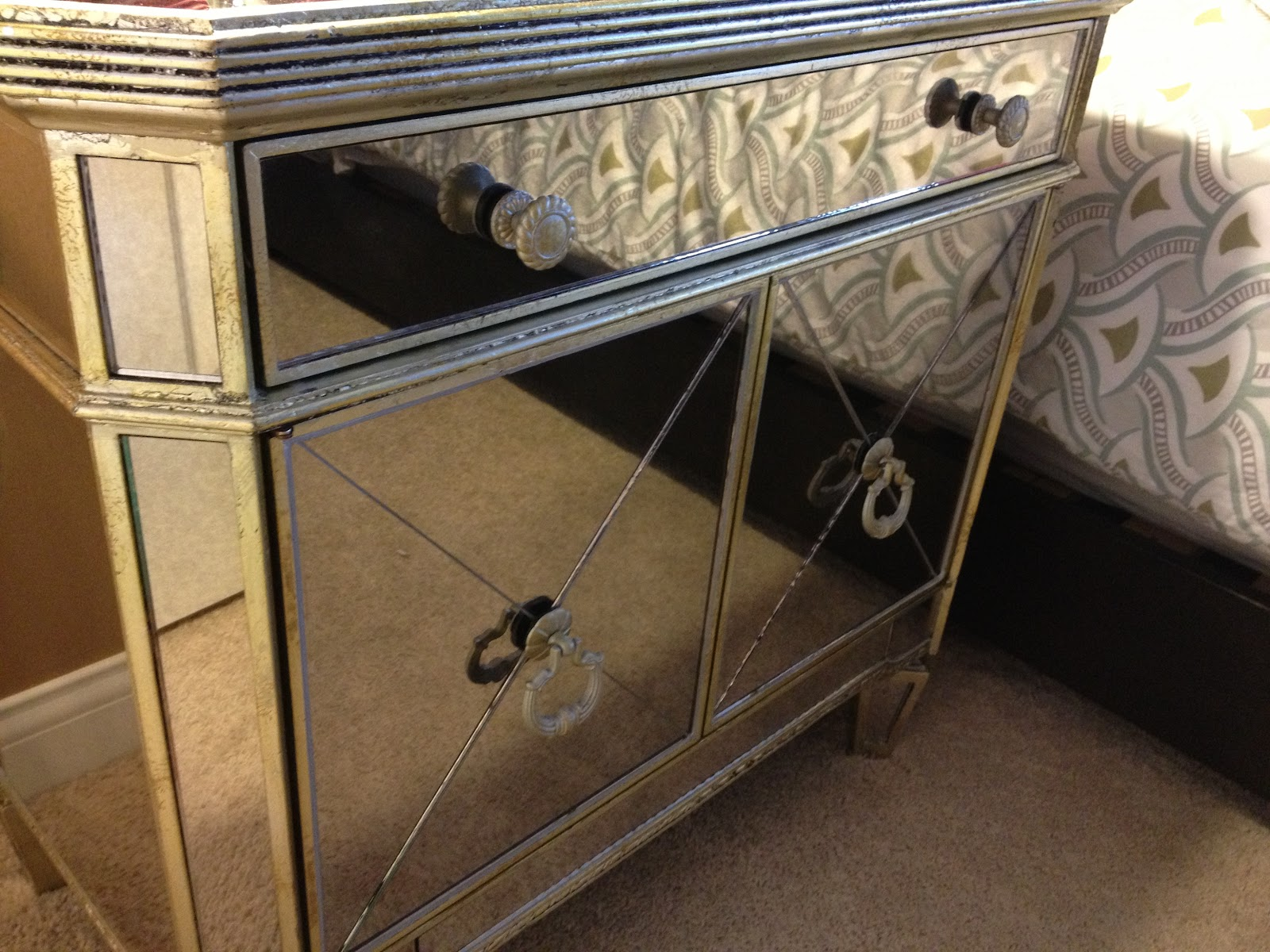 the mirrored side tables are z gallerie - Bedroom End Tables