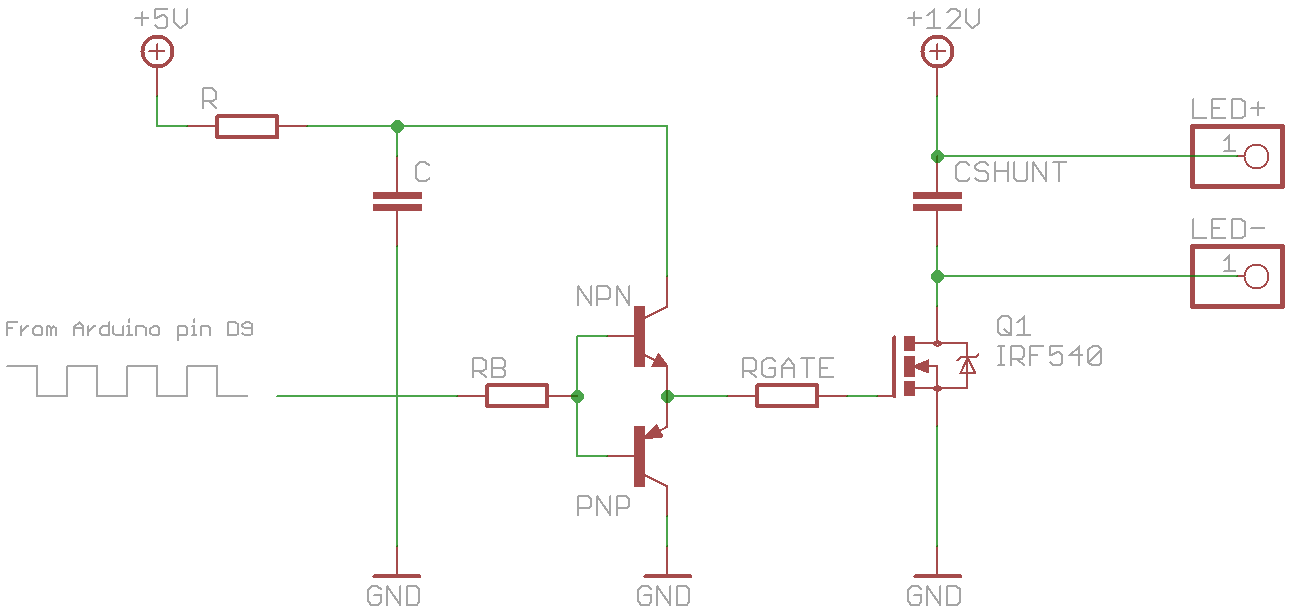 Starlight Dimming A 12v Led Strip With Mosfet And Pwm Optocoupler Circuit Schematic Cshunt Added