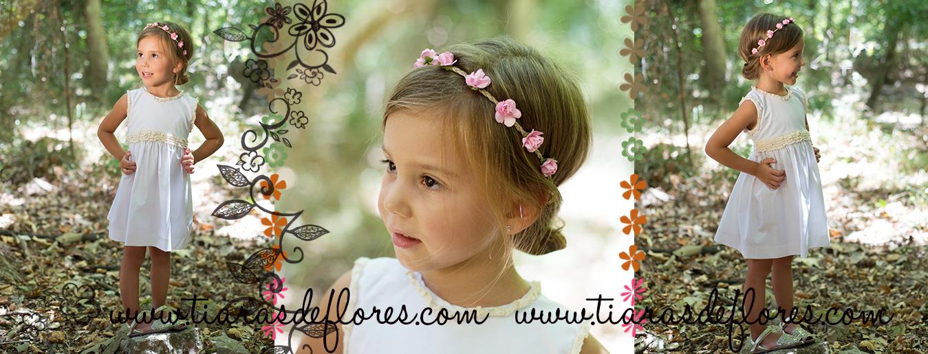 Diademas tiara de flores niña