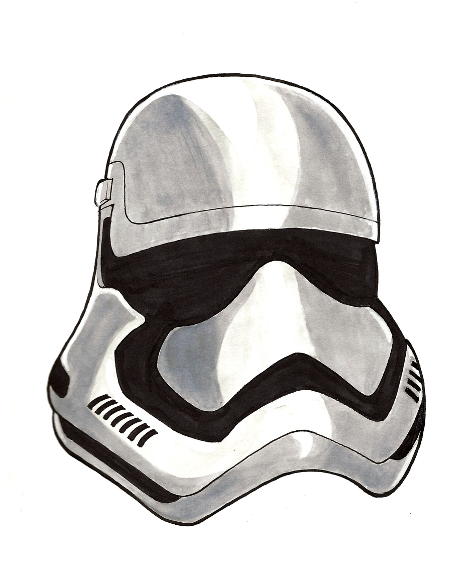 Star Wars The Force Awakens Stormtrooper Sketch by IAMO