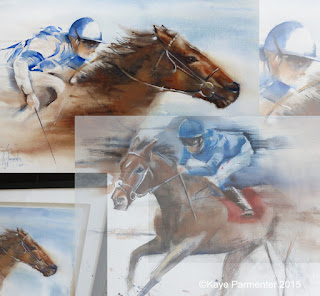 original watercolour art jack hobbs godolphin