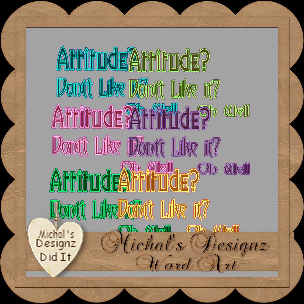 Attitude Word Art