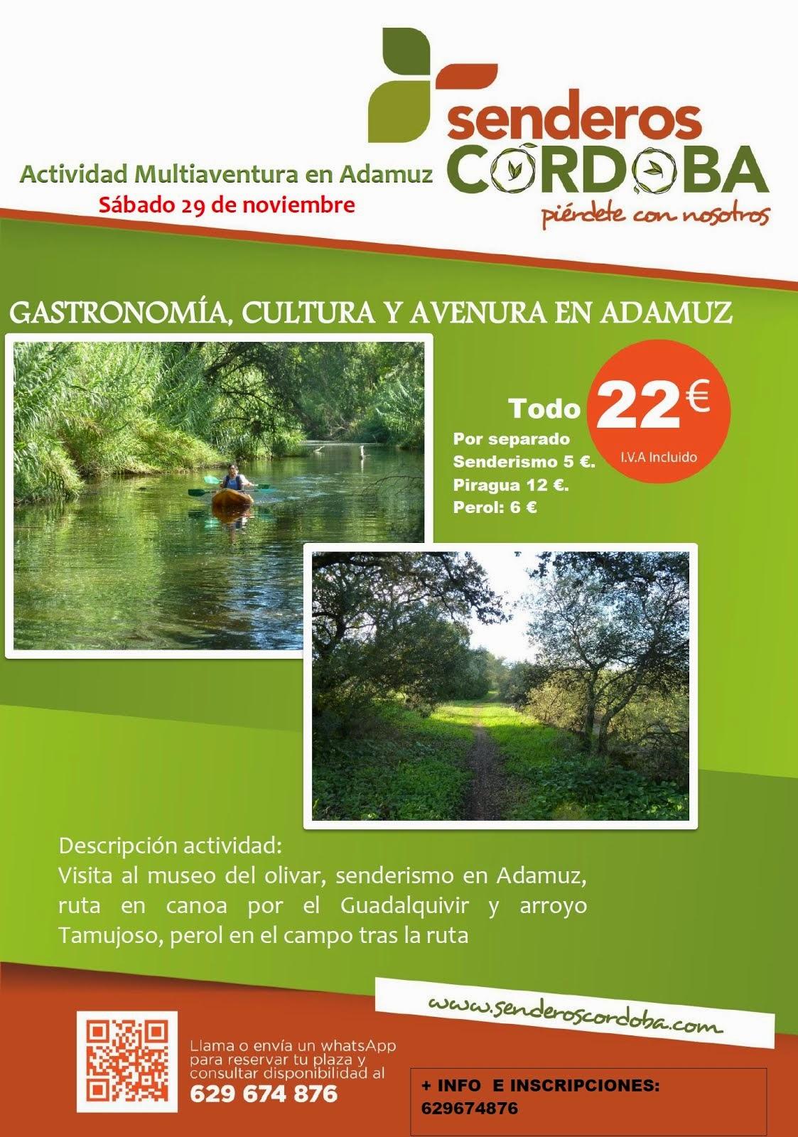 Gastronomía, cultura y aventura en Adamuz