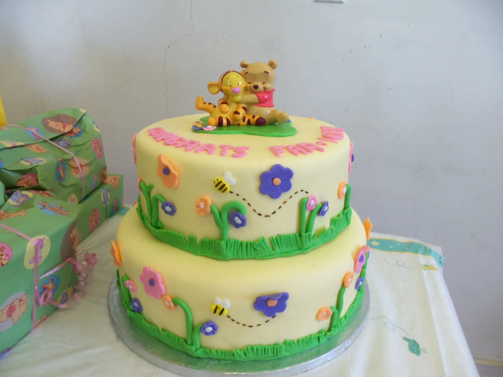 sugarbakers cake design winnie the pooh baby shower cake