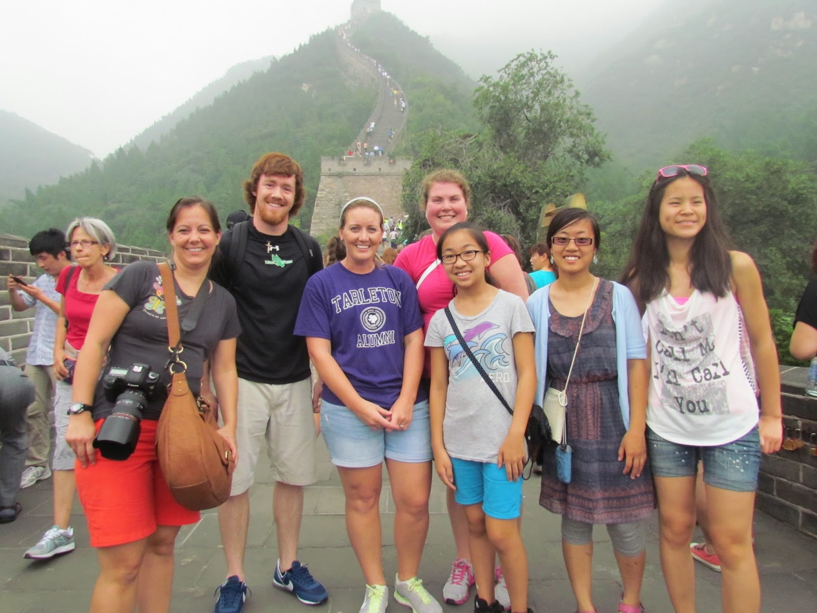 The group who attempted to climb to the top of the Great Wall