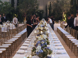 Jantar Oficial, Copo de água do casamento do Mónaco, de Charlene Wittstock e Príncipe Alberto