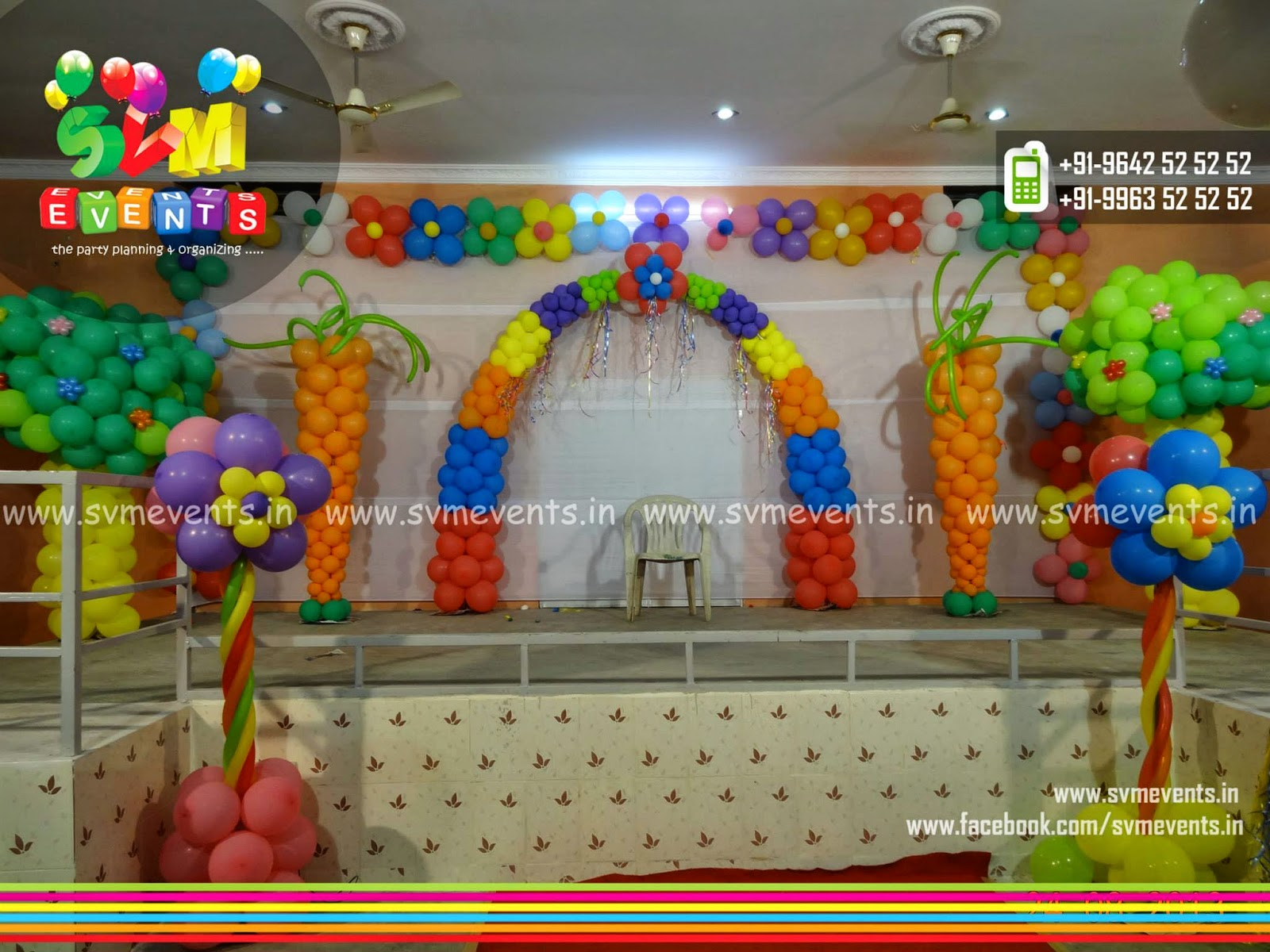 Svm events amazing balloon decorations for kids birthday