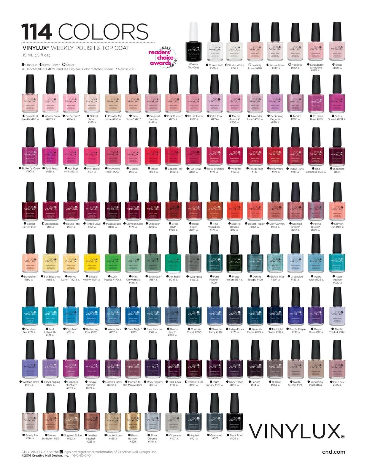 Similiar Creative Nail Design Vinylux Colorlist Keywords