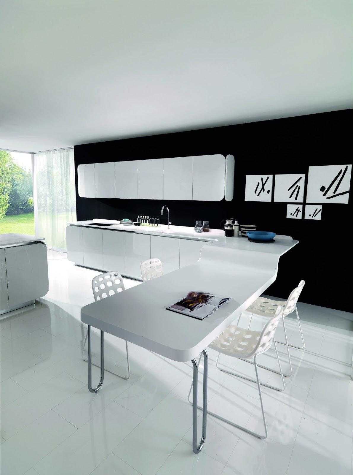 Una Encimera Para La Cocina Hi Macs Kansei Cocinas Servicio  # Muebles Hi Macs