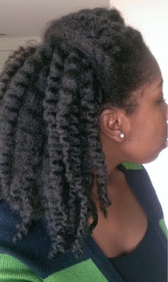 stretched twistout