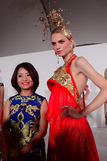 Guo Pei - the Chanel of China - and Andrej Pejic