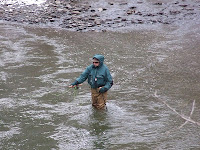 Fisherman in Fall Creek