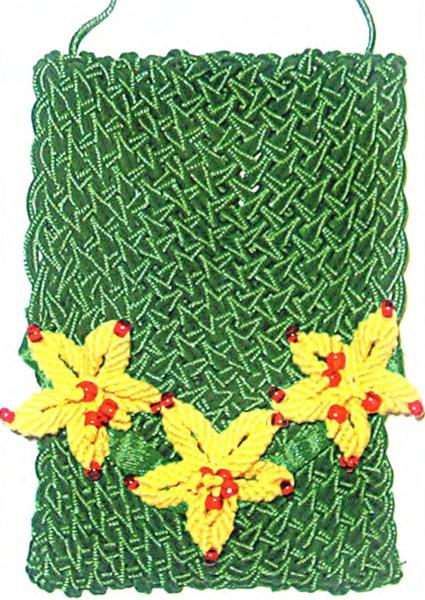 Плетение сумочки для телефона: Описание и схема работы