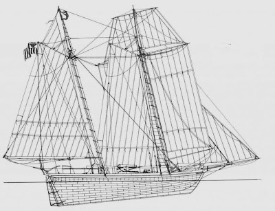 Free Ship Plans, Revenue Cutter, solid hull, ship model