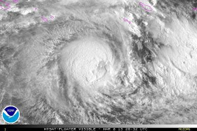 Ciclón tropical Sandra 08 de Marzo 2013 - Imágen satélite