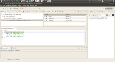 Imagen de un ejemplo de XDebug y Eclipse en Ubuntu 10.04