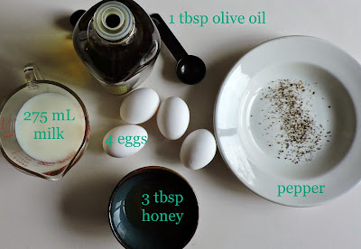 honey omelette ingredients eggs pepper roman historic cooking
