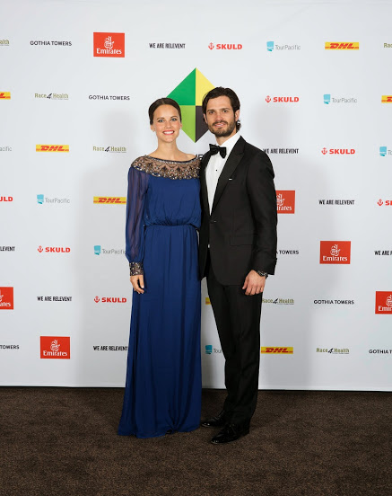 Prince Carl Philip and Sofia Hellqvist at a fundraising dinner