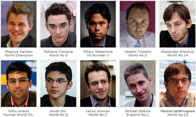 Les 10 super grands-maîtres d'échecs engagés aux London Chess Classic 2015