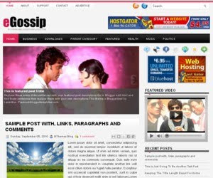 eGossip Blogger Template