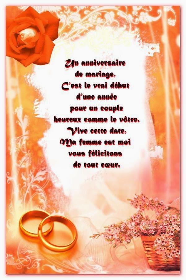 Texte bon anniversaire mariage
