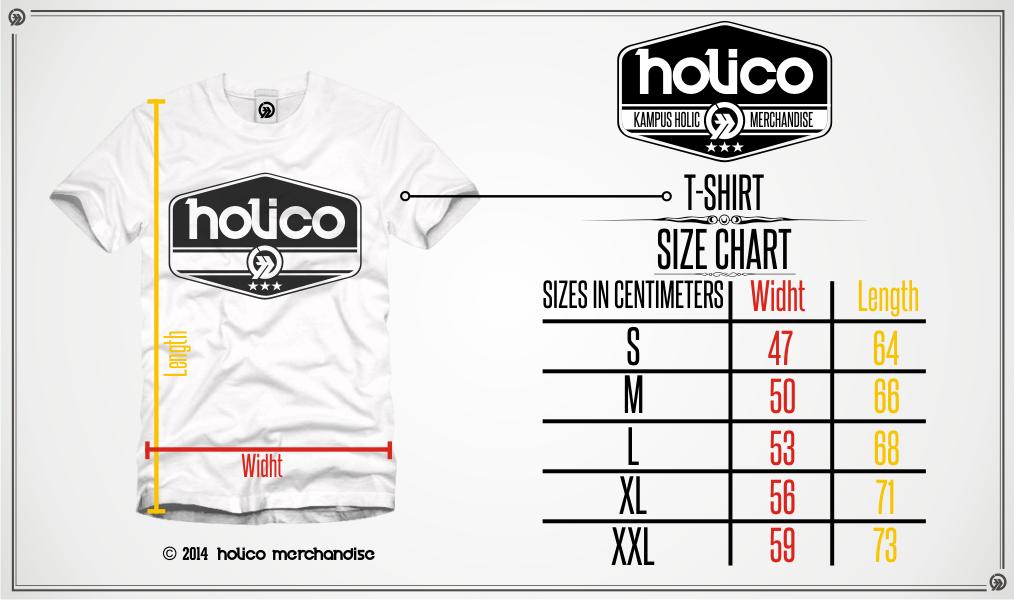 Size Chart Holico Kampus Holic