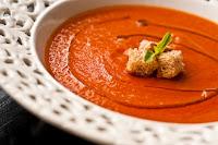 Sopa de Tomates Assados (vegana)