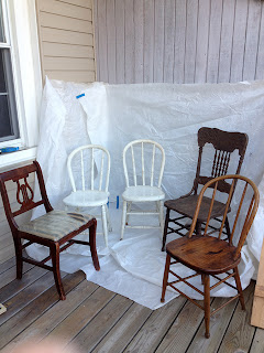 Chairs- flea market finds