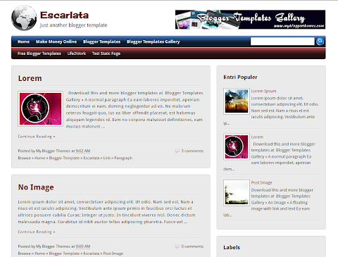Escarlata Blogger Theme