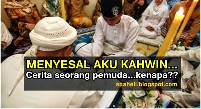 Seorang Lelaki Menyesal Kahwin Kerana...., info, terkini, lucu, lawak, renungan, sensasi,