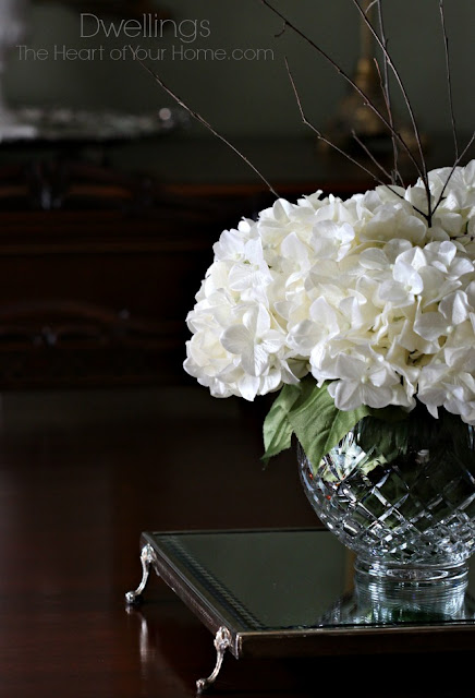 Hydrangea Centerpieces For Dining Room : New dining room centerpiece dwellings the heart of your home