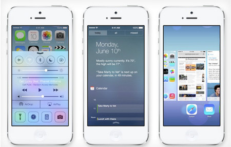 giao diện iOS 7 Apple