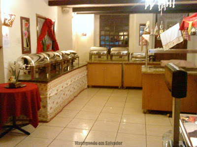 Casarrara Restaurante: Ambiente interno (Área do buffet)