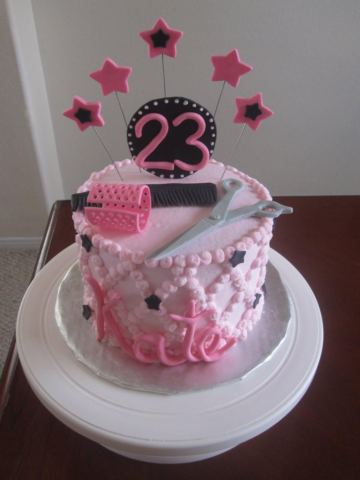 Baby Shower Cakes: Hairdresser Cake