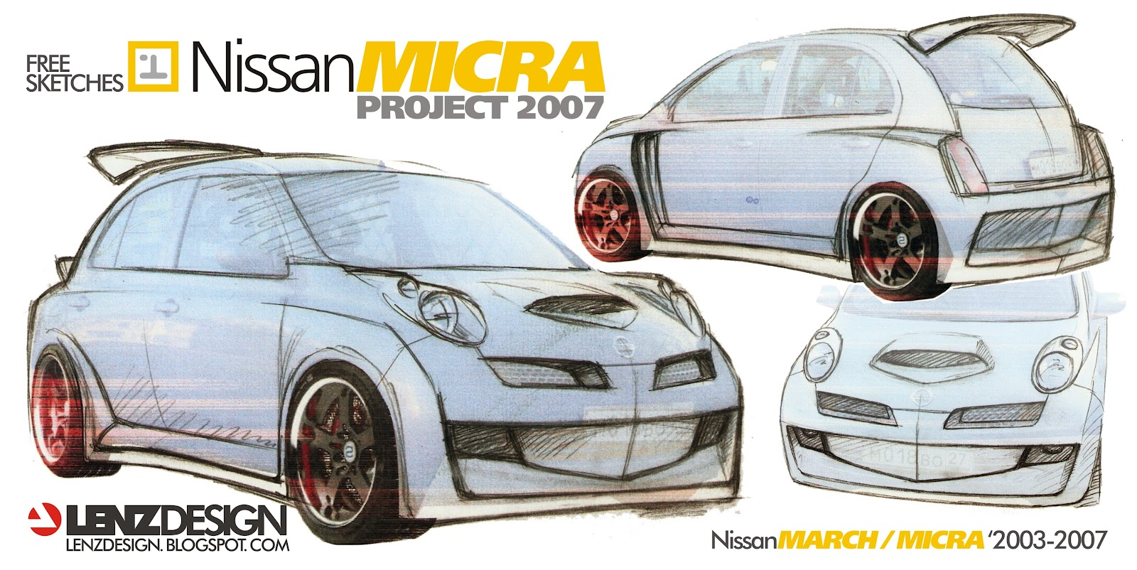 nissan micra tuning concept 2007 by lenzdesign. Black Bedroom Furniture Sets. Home Design Ideas