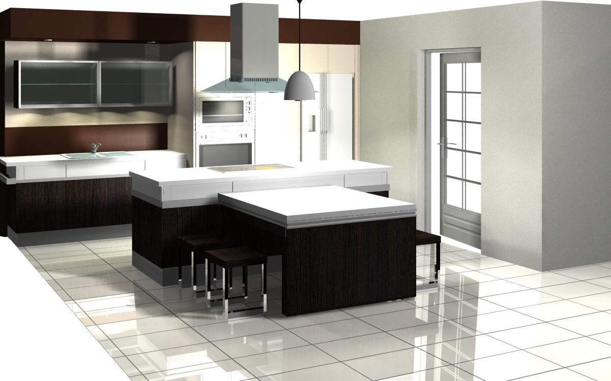 Dise o interior cocinas xpaziovisual for Diseno interior cocina