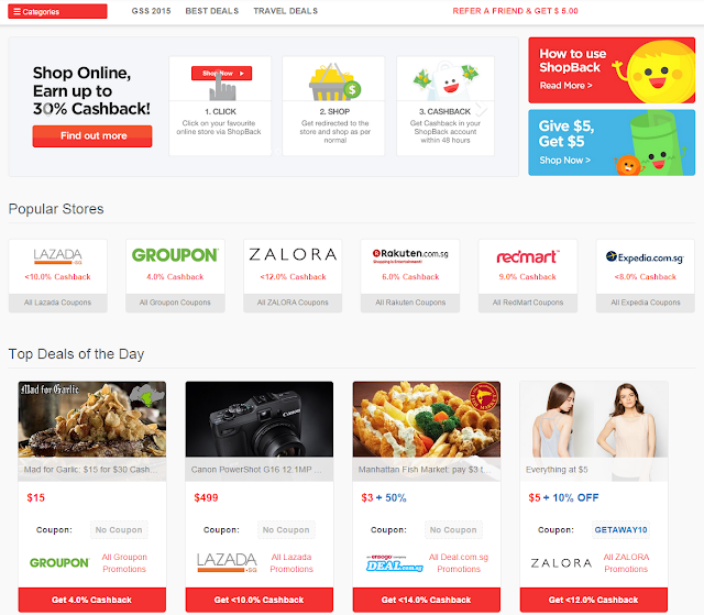 Online Shopping Cashback