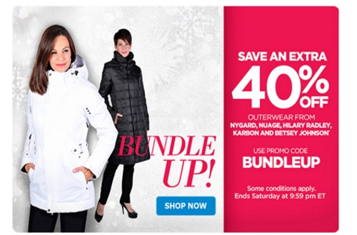 The Shopping Channel Flash Sale Extra 40% Off Outerwear Promo Code