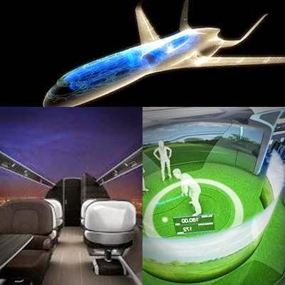 Pesawat dengan Dinding Transparan Pertama Di Dunia