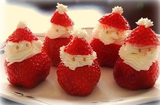 Frutas para Navidad, Decoración con Fresas