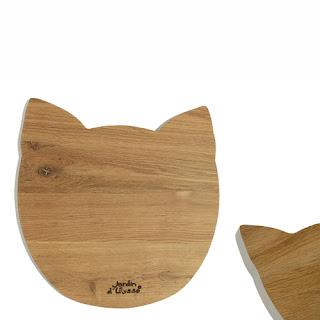 Planche à découper chat