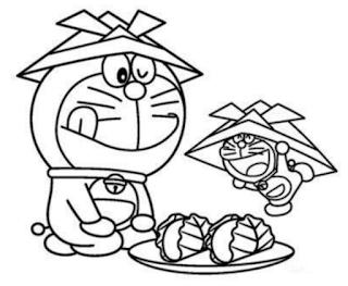 Sketsa Gambar Mewarnai Doraemon 201609