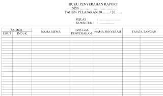 Buku Penyerahan Raport