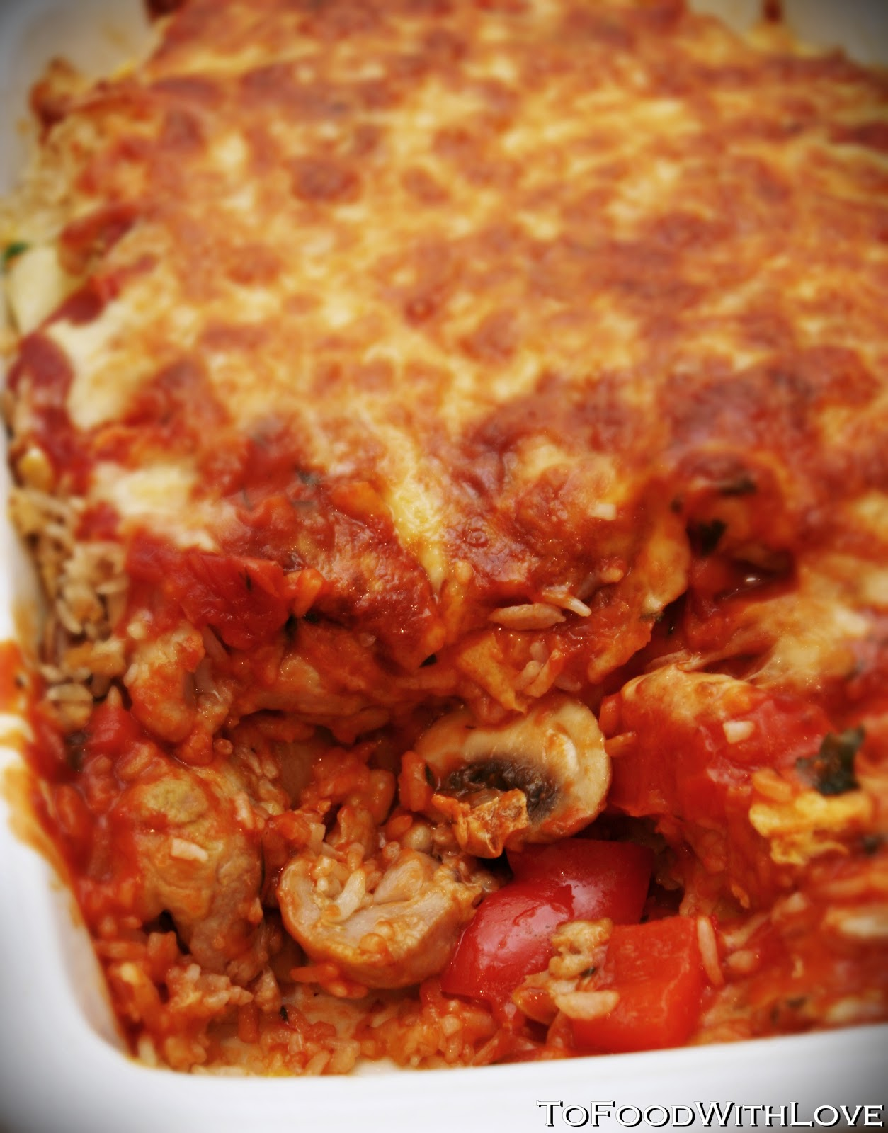 To Food with Love: Cheesy Baked Tomato Rice