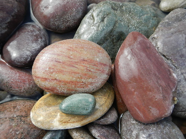 colorful river rocks blackfoot river montana