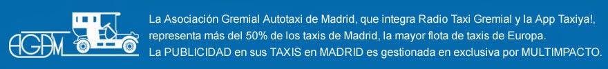 PUBLICIDAD en TAXIS de MADRID MULTIMPACTO